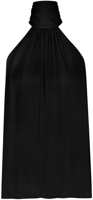 Zimmermann Gathered Bow Tie Blouse