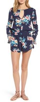 Mimichica Women's Mimi Chica Floral Bell Sleeve Romper