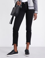 7 For All Mankind Rozie stepped-hem slim high-rise jeans