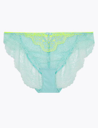 Marks and Spencer Broderie & Lace High Leg Knickers