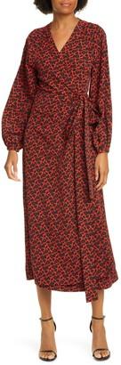 Rodebjer Khalida Floral Long Sleeve Wrap Dress
