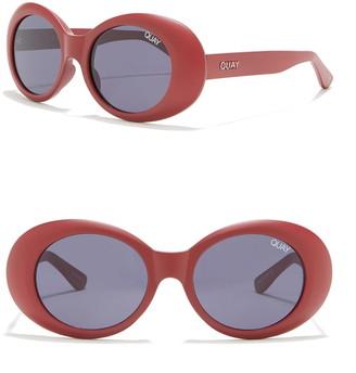 Quay Frivolous 55mm Oval Sunglasses