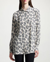 Stella McCartney ls btn front blouse