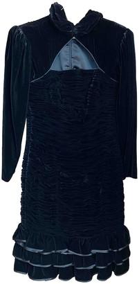 Ungaro Parallele Navy Velvet Dress for Women Vintage