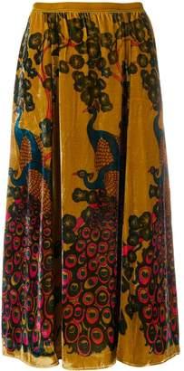 Mes Demoiselles high waisted devore skirt