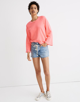 Madewell Relaxed Denim Shorts in Kingshill Wash: Rope Belt Edition