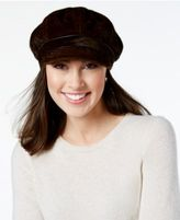 Nine West Faux Calf Hair Newsgirl Cap