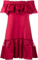 Alberta Ferretti off-shoulder ruffle dress - women - Silk/Cotton/other fibers - 42