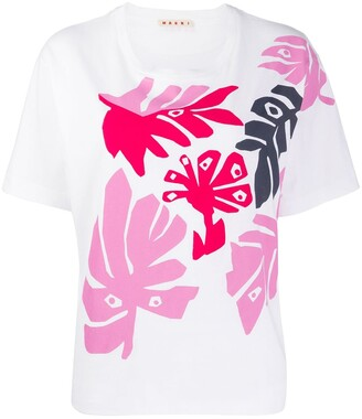 Marni leaves print T-shirt