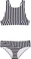 Araks Joy Millie Racer-back Striped Bikini - Midnight blue