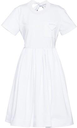 Prada Logo-Patch Flared Dress