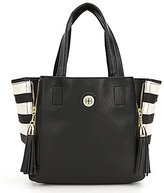Kate Landry Phoebe Tasseled Striped Satchel