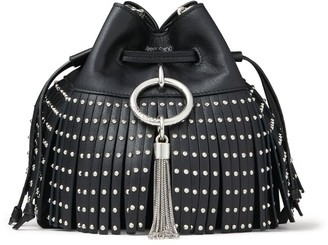 Jimmy Choo Mini Leather Callie Drawstring Bucket Bag