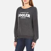 Wildfox Couture Women's Cooler Baggy Beach Sweatshirt Black