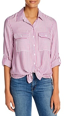 BeachLunchLounge Jordana Tie-Front Shirt