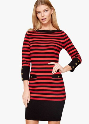 Phase Eight Azelia Stripe Knit Dress