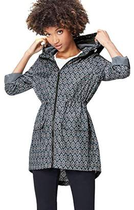 find. Women's Raincoat in Floral Pac-a-Mac, with Drawstring Hood and Waist and Zip Fastening,(Manufacturer size: XX-Large)