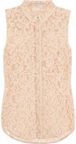 Victoria Beckham Denim Lace blouse