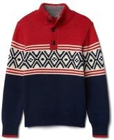 Gap Patterned mockneck sweater