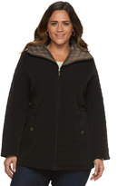 Gallery Plus Size Diamond-Quilted Jacket