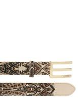 Etro 35mm Paisley Print Coated Canvas Belt