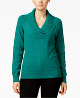 Karen Scott Marled Shawl-Collar Sweater, Only at Macy's
