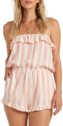 Billabong Pocket Flower Strapless Romper