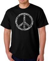 Men's Word Art Peace 77 T-Shirt in Black