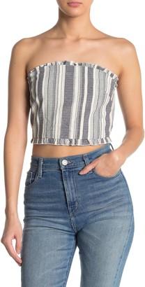 Cotton On Melissa Stripe Ruffle Trim Bandeau Top