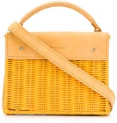 Wicker Wings wicker effect tote bag