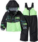 ZeroXposur Toddler Boy Blake Colorblock Jacket & Bib Snow Pants Snowsuit Set