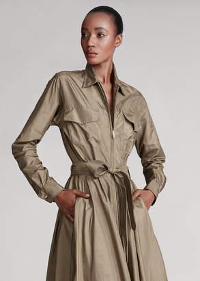Ralph Lauren Cambria Silk Safari Shirtdress