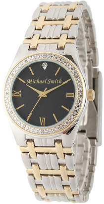 Fine Jewelry Personalized Dial Mens Diamond-Accent Two-Tone Watch