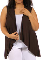 24/7 Comfort Apparel Sleeveless Shrug Vest Plus