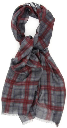 Valentino Letter Printed Check Scarf