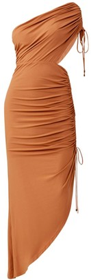 Significant Other Sirene Ruched One-Shoulder Dress