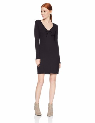 RVCA Junior's Knot UP Fitted Long Sleeve Dress
