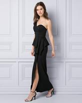 Le Château Knit Crepe One Shoulder Gown