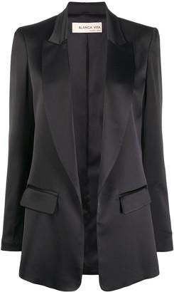 Blanca Vita Peaked Lapel Angled Suit Jacket