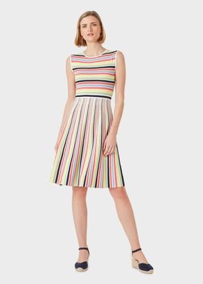Hobbs Rainbow Stripe Knitted Dress