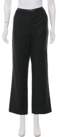 Chanel Wool High-Rise Pants