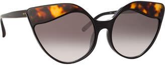 Linda Farrow Gradient Cat-Eye Sunglasses