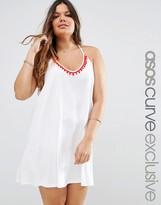 Asos Beach Mini Dress with Pom Pom Detail