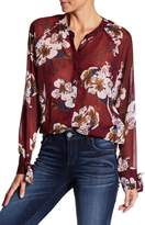 KUT from the Kloth Jillian Front Button Floral Print Blouse