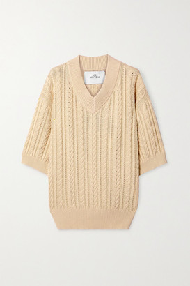 I Love Mr Mittens Cable-knit Cotton Sweater - Cream