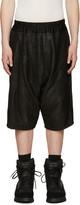 Julius Black Lambskin Textured Shorts