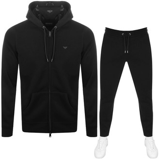 Giorgio Armani Emporio Full Zip Hooded Tracksuit Black
