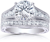 Kobelli Jewelry 2 4/5 CT TW Forever Classic Moissanite and Diamond 14K Gold 2-Piece Bridal Set