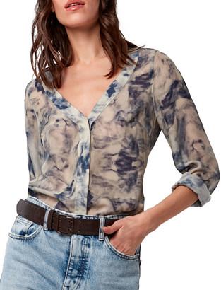 As By Df Avery Tie-Dye Silk Shirt