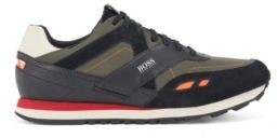 HUGO BOSS Hybrid trainers with leather trims